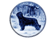 Briard Danish Blue Dog Plate (# 4)