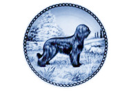 Briard Danish Blue Dog Plate (# 3)