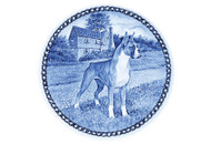 Boxer Danish Blue Dog Plate (# 3)