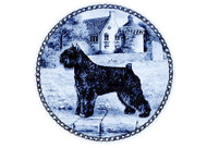 Bouvier Danish Blue Dog Plate