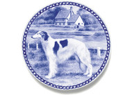 Borzoi Danish Blue Dog Plate (# 2)