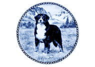 Bernese Mountain Dog Danish Blue Plate (# 2)