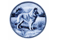 Belgian Tervuren Danish Blue Dog Plate