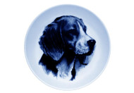 Beagle Face Danish Blue Dog  Plate