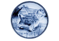 Australian Terrier Danish Blue Dog Plate (# 2)
