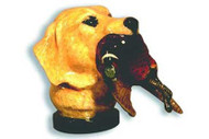 Golden Retriever Head with Pheasant Dog Hood Ornament