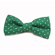 Green Mini Dot Bow Tie for Dogs