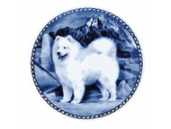 Samoyed Danish Blue Plate