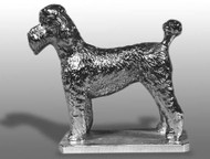Poodle-Puppy Cut Hood Ornament