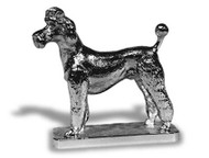 Poodle-French Clip Hood Ornament