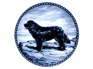 Newfoundland Danish Blue Dog Plate