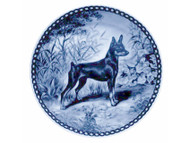 Miniature Pinscher Blue Plate