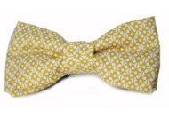 Micro Dot Mustard Bow Tie For Dogs