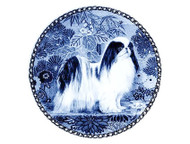 Japanese Chin Danish Blue Dog Plate