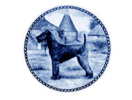 Irish Terrier Danish Blue Dog Plate