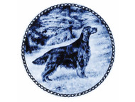 Irish Setter Danish Blue Dog Plate