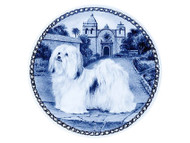 Havanese Danish Blue Dog Plate