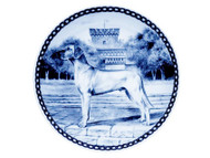 Great Dane Danish Blue Dog Plate