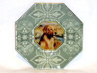 "Golden Retriever 5"" Decoupage Dog Plate"