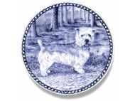 Glen of Imaal Terrier Danish Blue Dog Plate