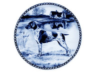 German Shorthaired Pointer Danish Blue Dog Plate