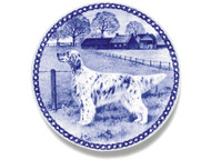 English Setter Danish Blue Dog Plate