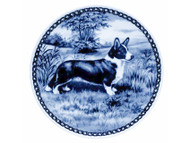Corgi Cardigan Danish Blue Dog Plate
