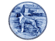 Boxer Danish Blue Dog Plate