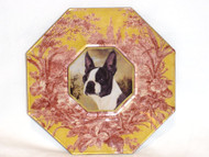 "Boston Terrier 5"" Decoupage Dog Plate"