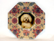 "Bichon Face 5"" Decoupage Dog Plate"