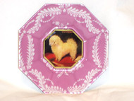 "Bichon Body 5"" Decoupage Dog Plate"