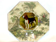 "Beagle 5"" Decoupage Dog Plate"