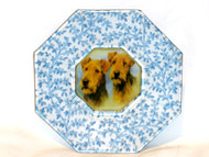 "Airedale 5"" Decoupage Dog Plate"