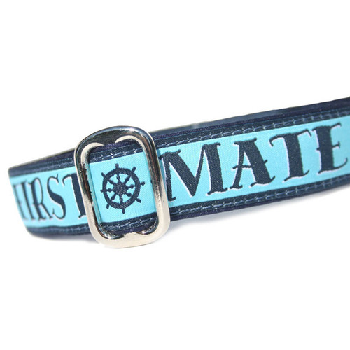 First Mate Martingale or Metal Clasp Dog Collar 1""