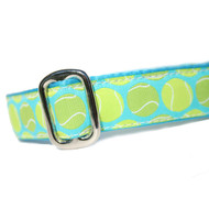 Tennis Ball Fetching Martingale or Metal Clasp Collar