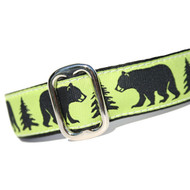 Black Bear Martingale Dog Collar 1""