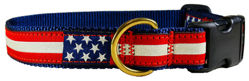 Retro US Flag Dog Collar