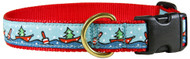 Holiday Boats Dog Collar