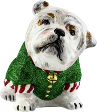 Bulldog Santa's Little Yelper Ornament