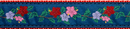 Hibiscus Dog Collar and Leash