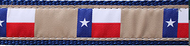 Texas Flag Dog Collar and Leash