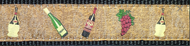 Wine and Grapes on Cork Dog Collar and Leash