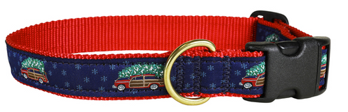 Woodie and Tree Dog Collar and Leash