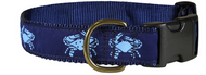 Blue Crab Dog Collar and Leash