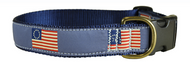 History of US Flags Dog Collar