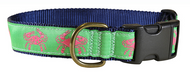 Pink Crab Dog Collar and Leash