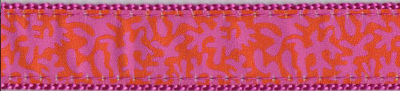 Orange and Raspberry Coral Dog Collar and Leash