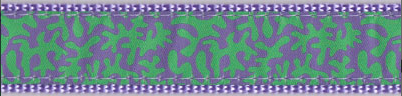 Lilac and Green Coral Dog Collar and Leash