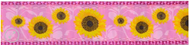 Pink Sunflowers Dog Collar