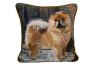 Chow Chow Needlepoint Pillow 14""
